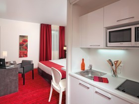 studio hotel 2 personnes double cuisine grenoble inovallee - Doppelt T1 SUP - Schlafzimmer