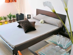 studio hotel 2 personnes double lit vitrolles - Double T1 SUP - Bedroom